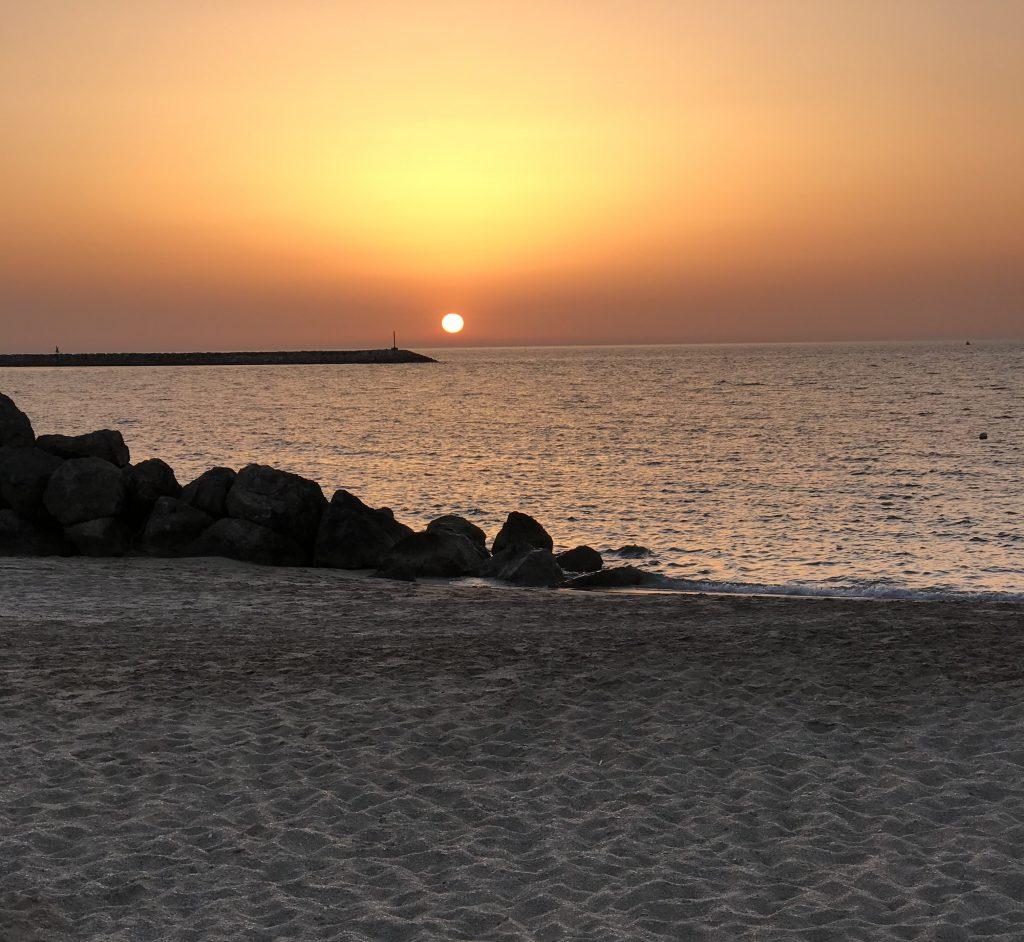 solnedgang hilton ras al khaimah